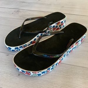 Disney Mickey Mouse Flip Flop Patriotic Sandals